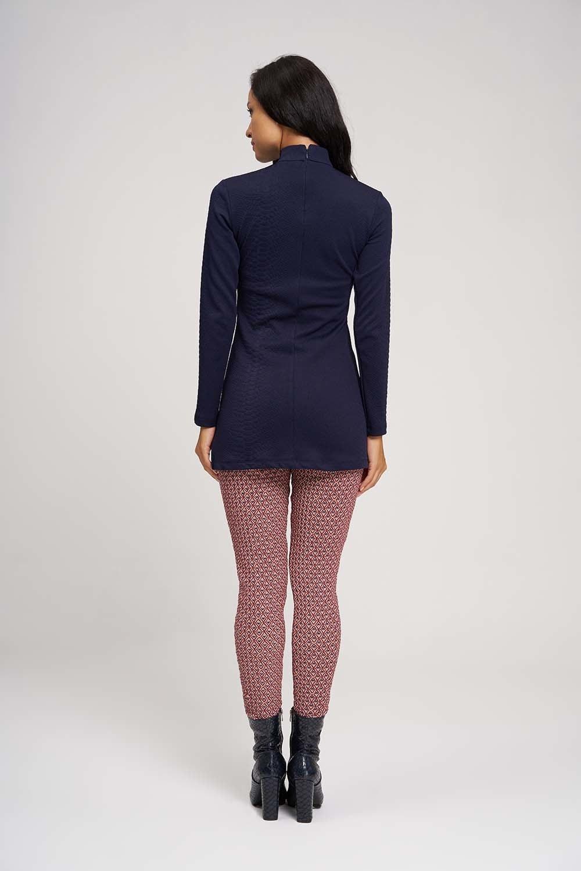 MIZALLE Jacquard Patterned Leggings Pants (Tile) (1)