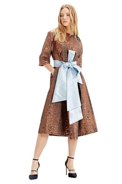 Jakarlı Elbise (Kiremit) - Thumbnail