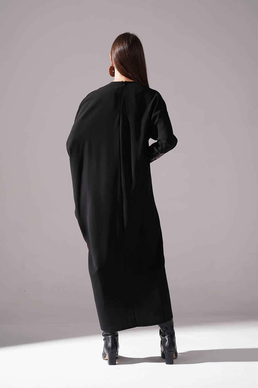 Jakarlı Ferace Bej Elbise