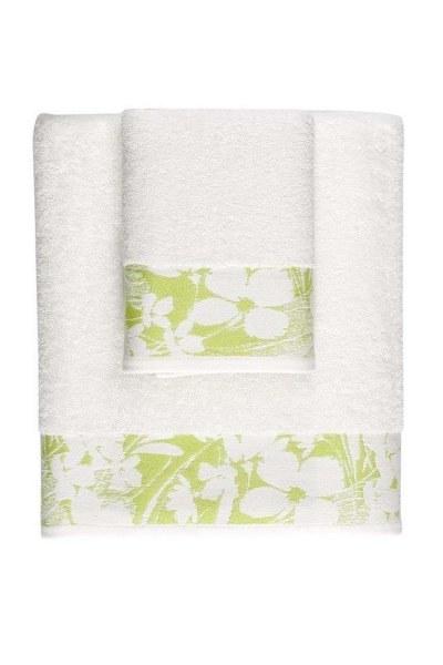MIZALLE منشفة حمام جاكار (100X150) (أخضر)