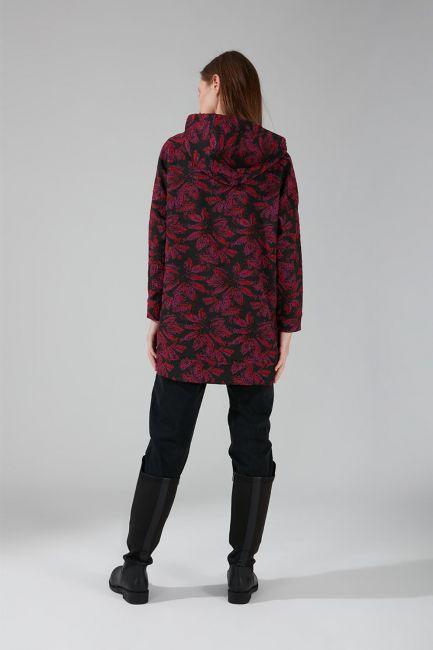 Jakarlı Sweatshirt (Fuşya) - Thumbnail