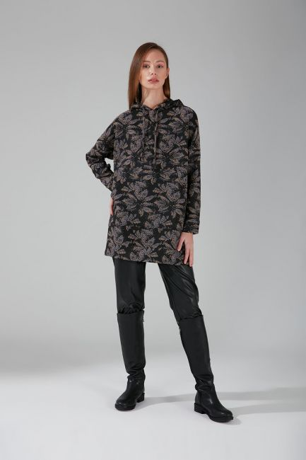 Mizalle - Jakarlı Sweatshirt (Gri)