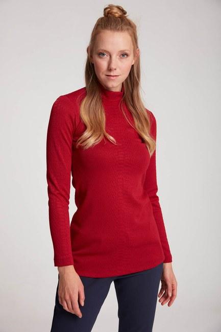 MIZALLE - Jacquard Tunic (Claret Red) (1)