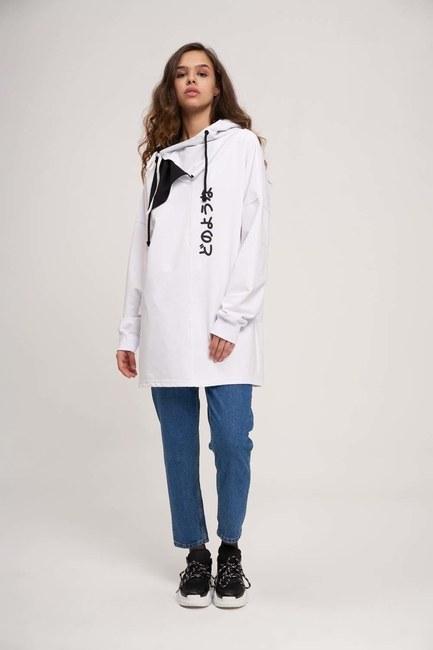 MIZALLE YOUTH - Japanese Printed Sweatshirt (White) (1)