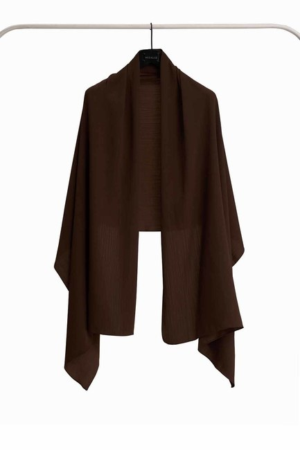 MIZALLE Jazzy Shawl (Dark Brown)