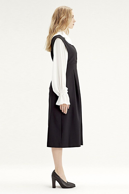 MIZALLE Jile Elbise (Siyah) (1)