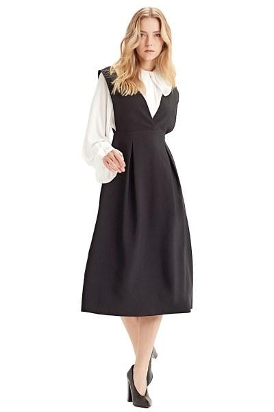 Gilet Dress (Black) - Thumbnail