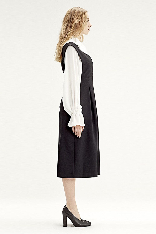 MIZALLE Gilet Dress (Black) (1)
