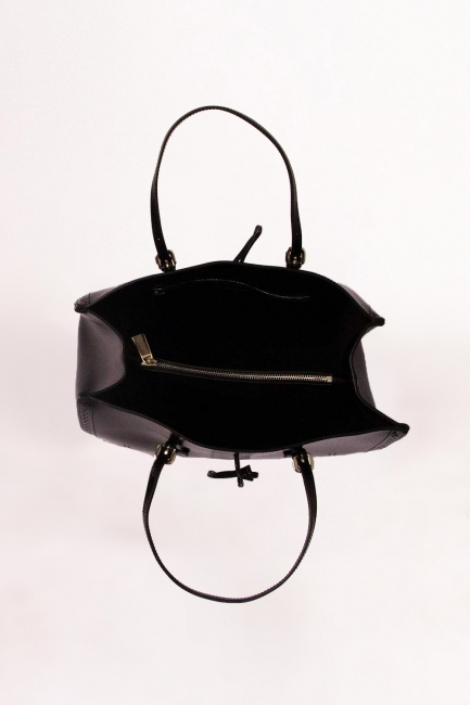 Kabartma Desenli Kol Çantası (Siyah) - Thumbnail