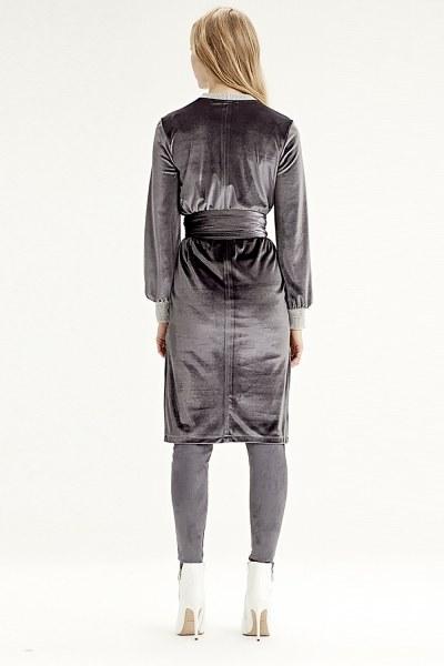 Velvet Dress Tunic (Grey) - Thumbnail