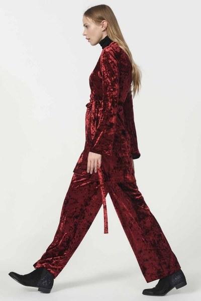 Velvet Kimono (Claret Red) - Thumbnail