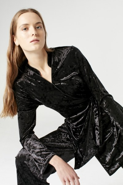 Kadife Kimono (Siyah) - Thumbnail