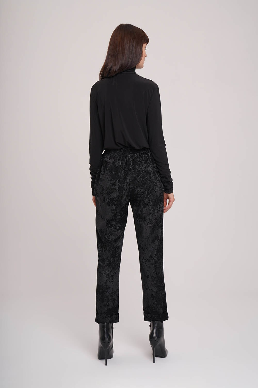Kadife Tasarım Pantolon (Siyah)