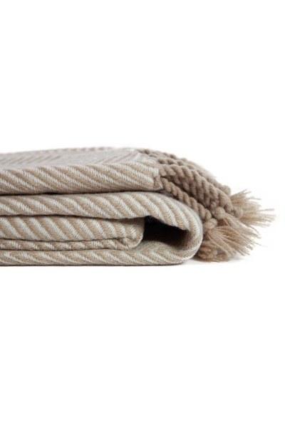 MIZALLE - Kahverengi Koltuk Şalı (130x170) (1)