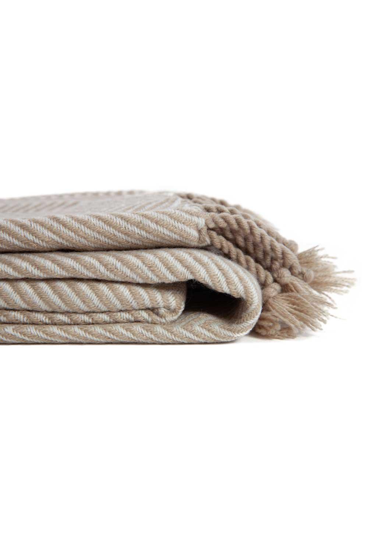 MIZALLE Kahverengi Koltuk Şalı (130x170) (1)