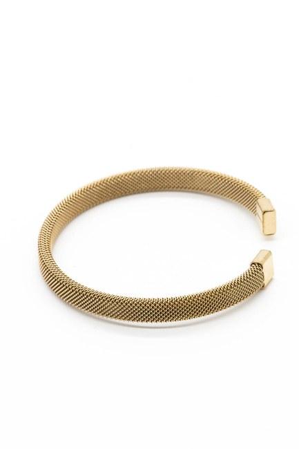 MIZALLE - Thick Straw Bracelet (Copper) (1)