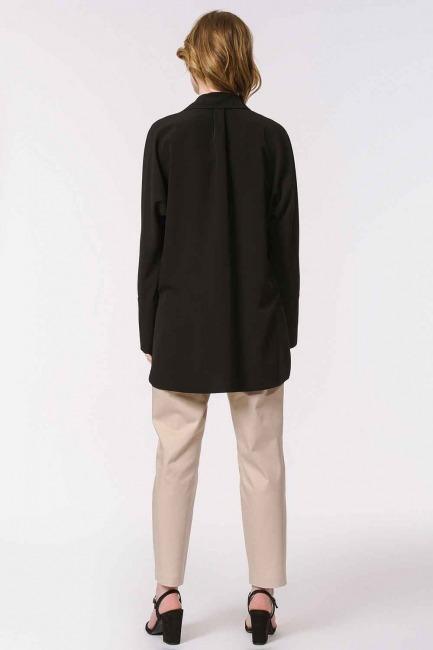 Kalın Patlı Lüks Bluz (Siyah) - Thumbnail