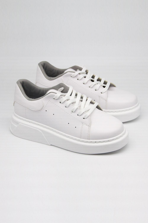 Kalın Taban Beyaz Sneaker