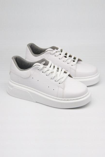 Mizalle - Kalın Taban Beyaz Sneaker