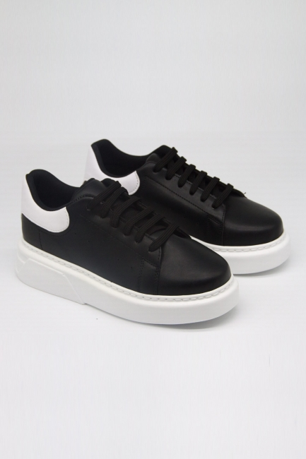 Mizalle - Kalın Taban Siyah Sneaker