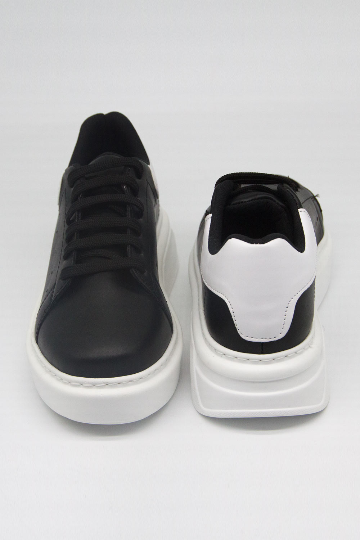 Kalın Taban Siyah Sneaker