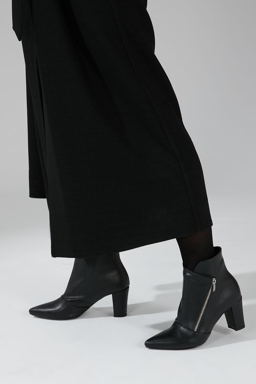 Kalın Topuk Bootie (Siyah) - Thumbnail