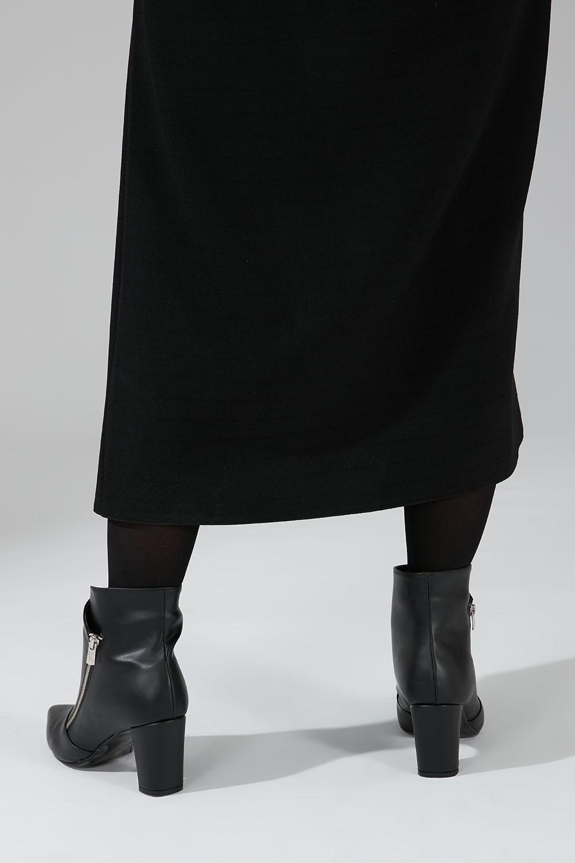 Kalın Topuk Bootie (Siyah)