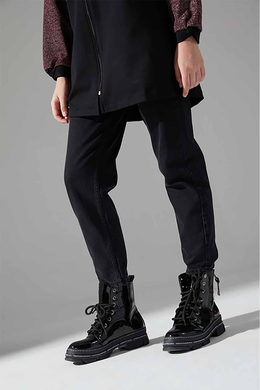 Kalın Topuk Rugan Bot (Siyah)