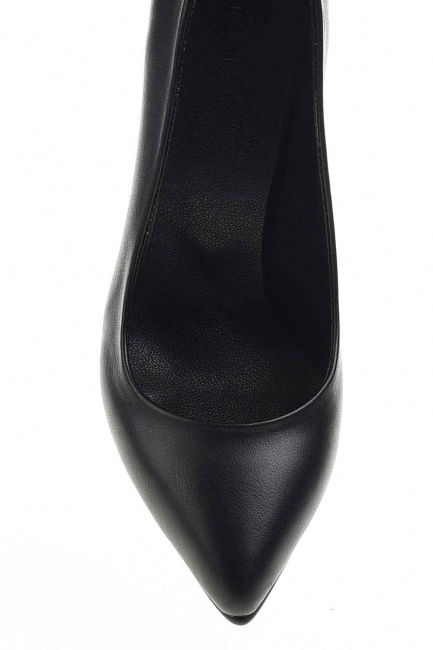 Kalın Topuklu Klasik Ayakkabı (Siyah) - Thumbnail