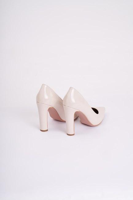Kalın Topuklu Stiletto (Bej) - Thumbnail