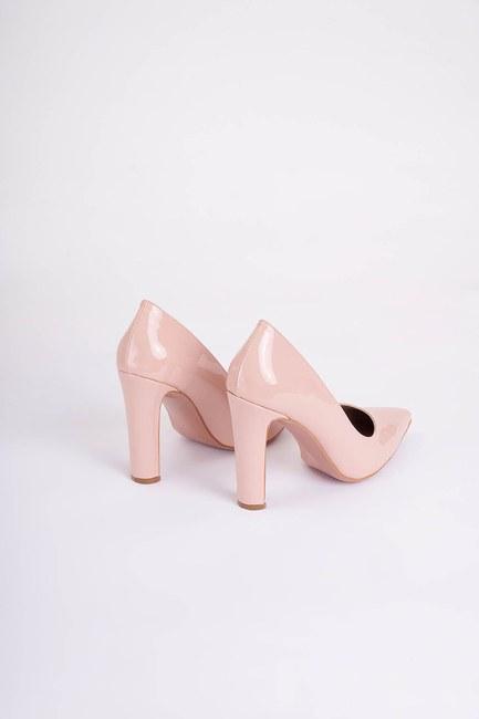 Kalın Topuklu Stiletto (Pudra) - Thumbnail
