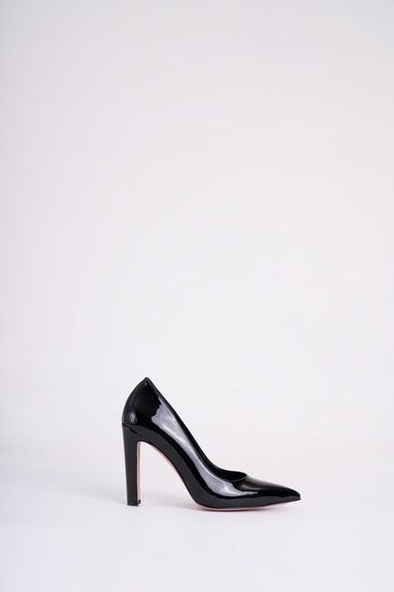 Kalın Topuklu Stiletto (Siyah) - Thumbnail