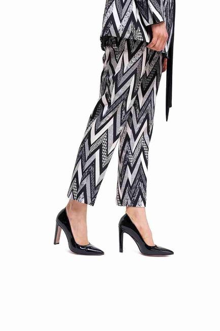Mizalle - Kalın Topuklu Stiletto (Siyah)