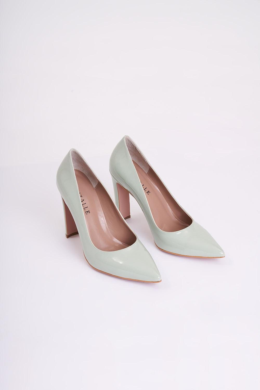 Kalın Topuklu Stiletto (Yeşil)