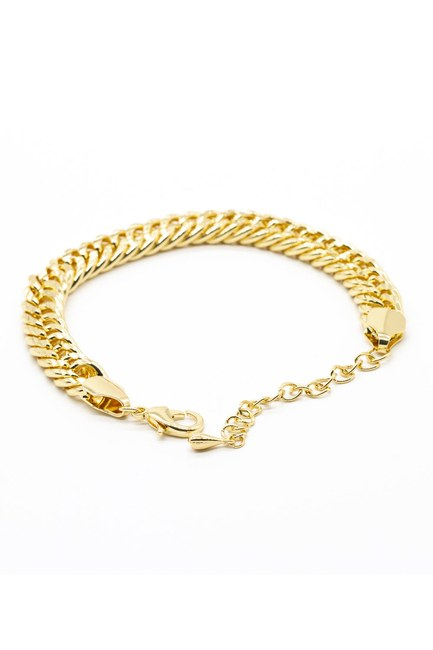 MIZALLE - Thick Chain Bracelet (Yellow) (1)