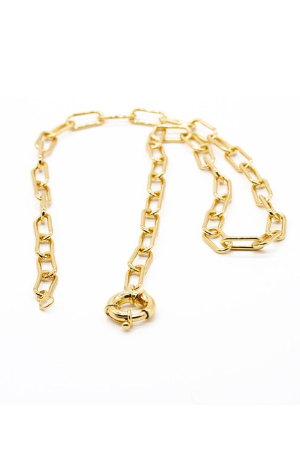 MIZALLE - Chain Thick Necklace (Yellow) (1)