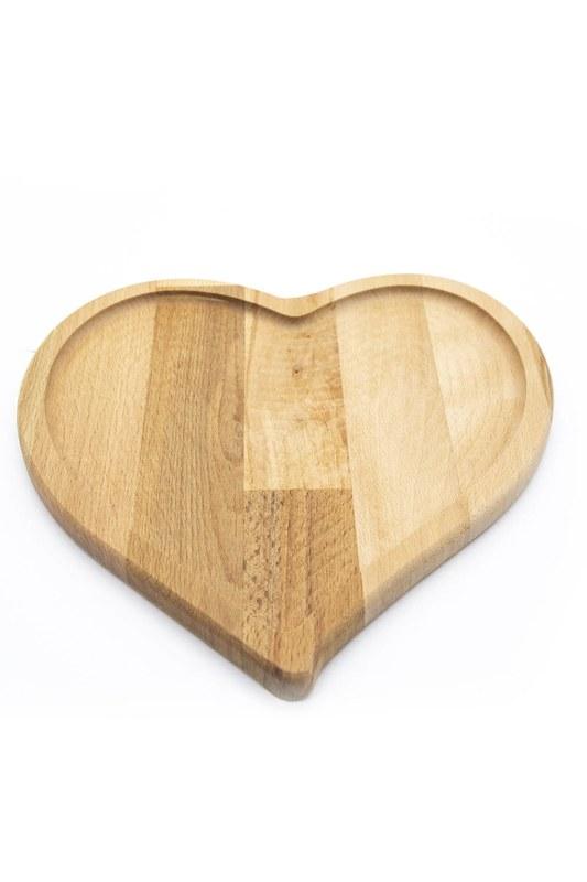 Kalpli Bambu Sunum Tabağı (Ahşap)