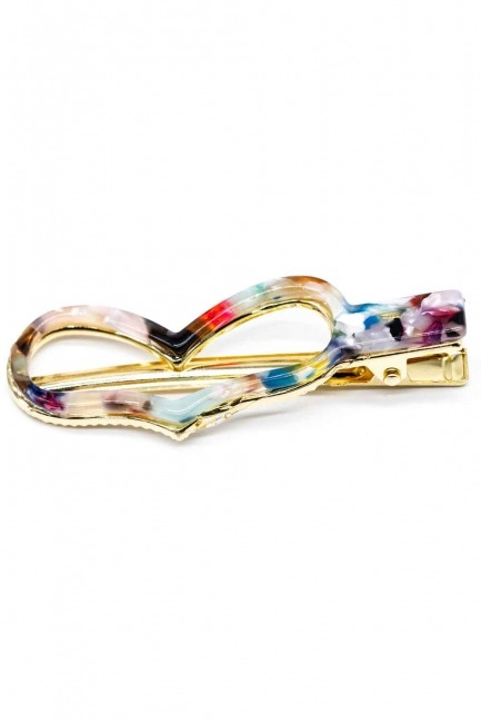 MIZALLE Heart Shaped Hair Clips (Colorful)