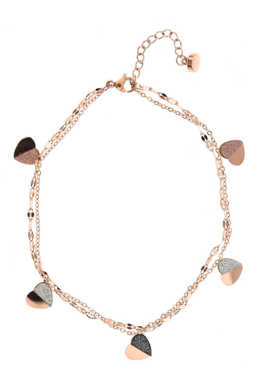 MIZALLE Kalpli Zincir Çelik Bileklik (St) (1)