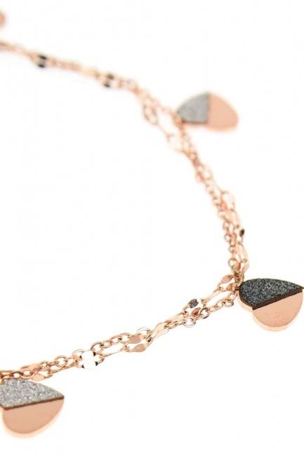 MIZALLE - Heart Steel Bracelet (St) (1)