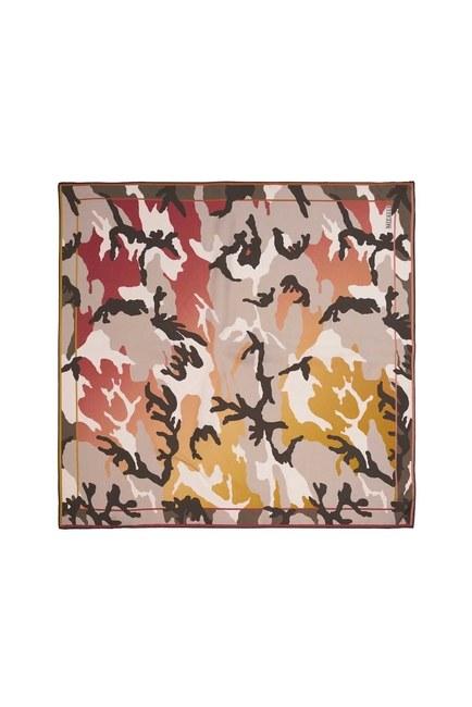 MIZALLE - Camouflage Silk Scarf (Grey) (1)