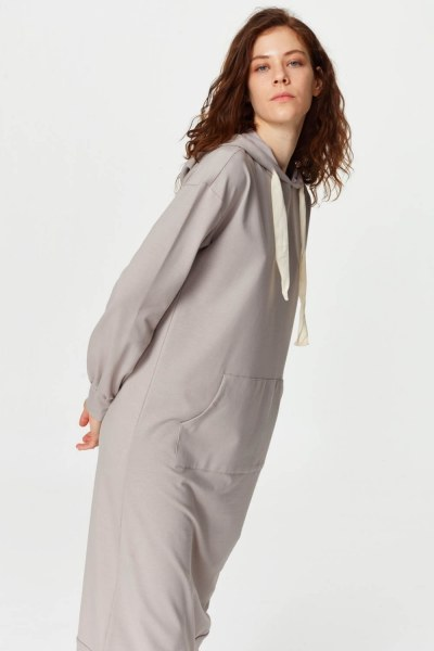 Kanguru Cepli Sweatshirt (Gri) - Thumbnail