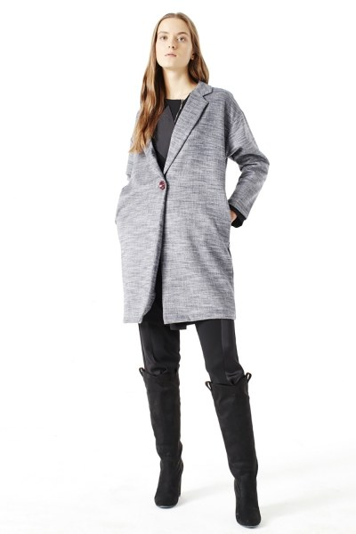 MIZALLE Cape Jacket (Black)