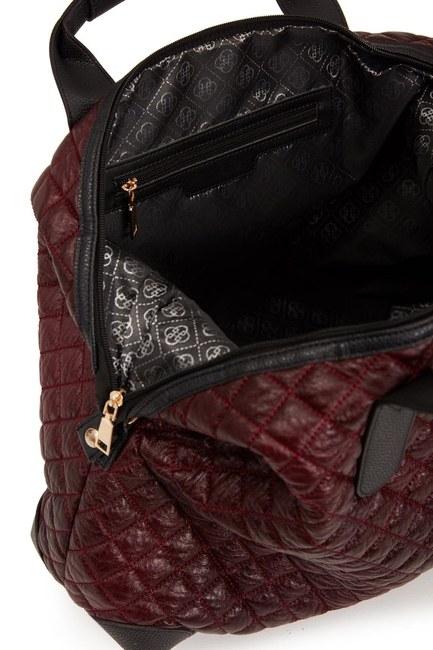 Quilted Large Shoulder Bag (Claret Red) - Thumbnail