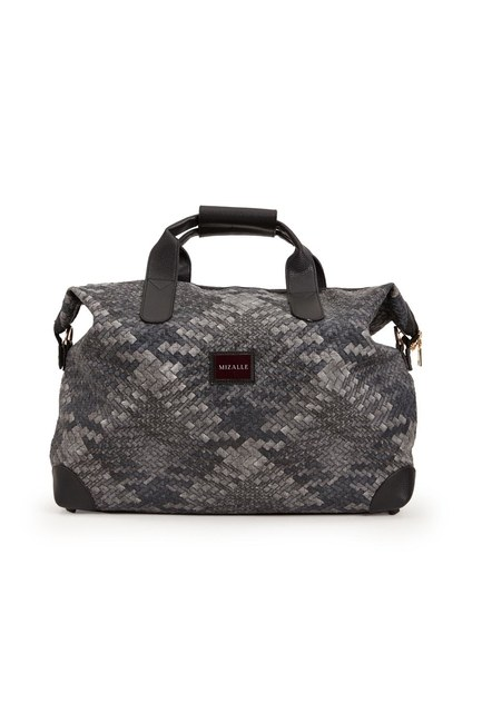 Quilted Large Shoulder Bag (Black/White) - Thumbnail