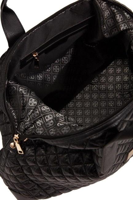 Quilted Large Shoulder Bag (Black) - Thumbnail