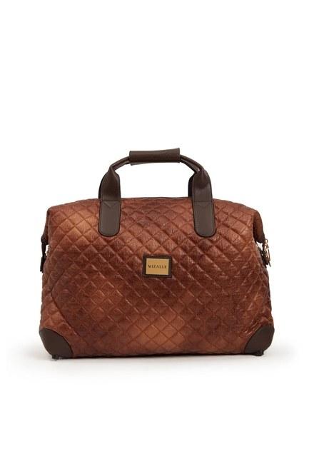 MIZALLE - حقيبة كتف كبيرة مبطن (تان) (1)