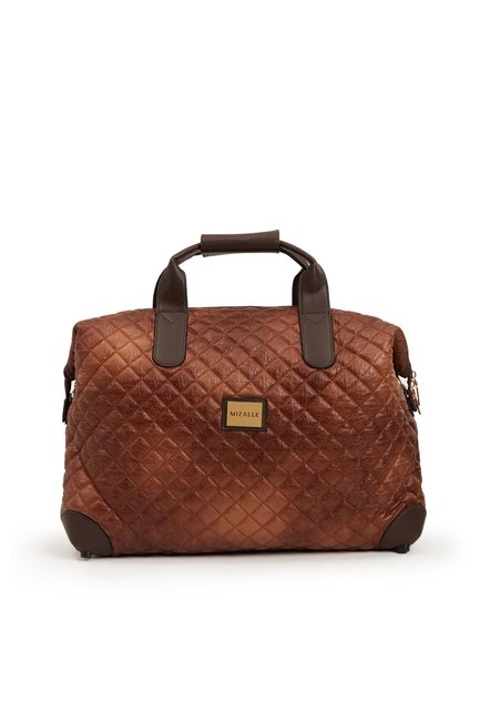 MIZALLE - Quilted Large Shoulder Bag (Tan) (1)