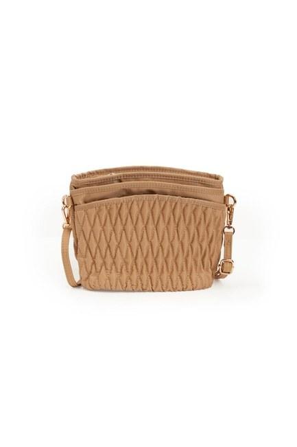 MIZALLE - حقيبة كتف مبطن (اللون البيج) (1)