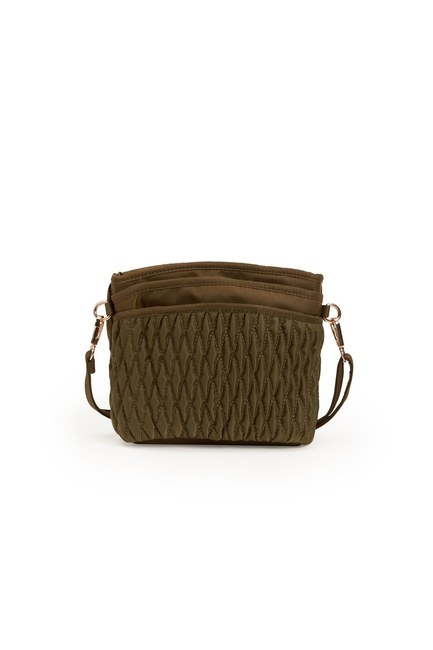 Quilted Shoulder Bag (Khaki) - Thumbnail